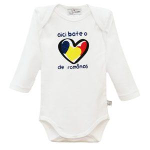 Body Bebe cu Maneca Lunga pentru Bebe Baiat cu Inscriptie
