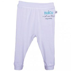 pantaloni lungi pentru bebelusi cu inscriptia buicu