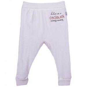 pantaloni lungi pentru bebelusi cu inscriptia cociolata