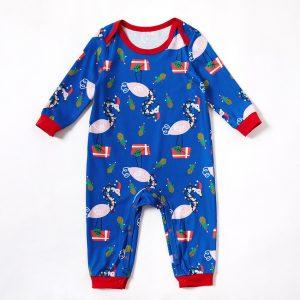 Pijama Flamingo pentru bebe, tip salopeta