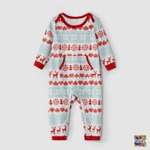 Pijama Ren cu Maneca Lunga si Capse