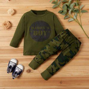 set army pentru bebelusi baieti compus din bluza cu maneci lungi si pantaloni