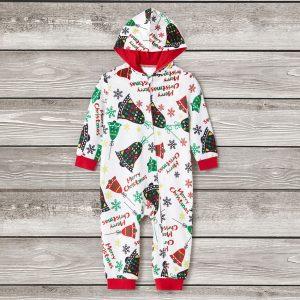 Pijama Clopotei pentru bebelusi cu maneca lunga si gluga