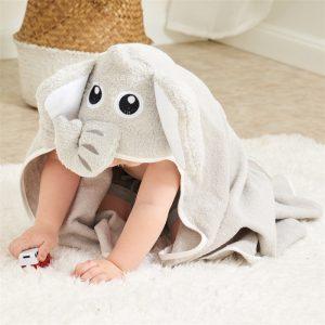 Prosop de baie elefant pentru copii