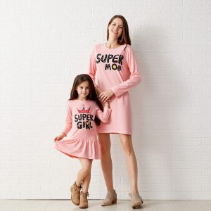 rochie set super girl and mom