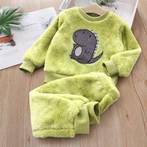 set gros pentru bebe format din bluza si pantaloni lungi cu imprimeu haios