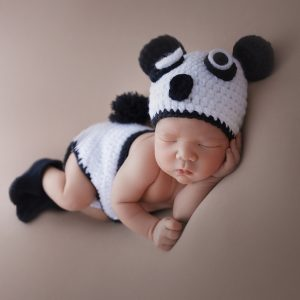 Set fantezie panda pentru bebelusi, nou-nascut si sedinte foto
