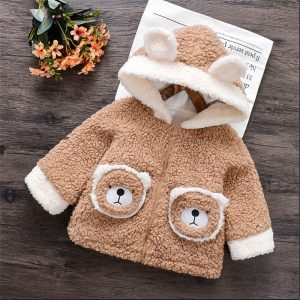 haina moale ursulet cu gluga pentru copii